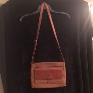 Brown Leather Fossil Kinley Crossbody!